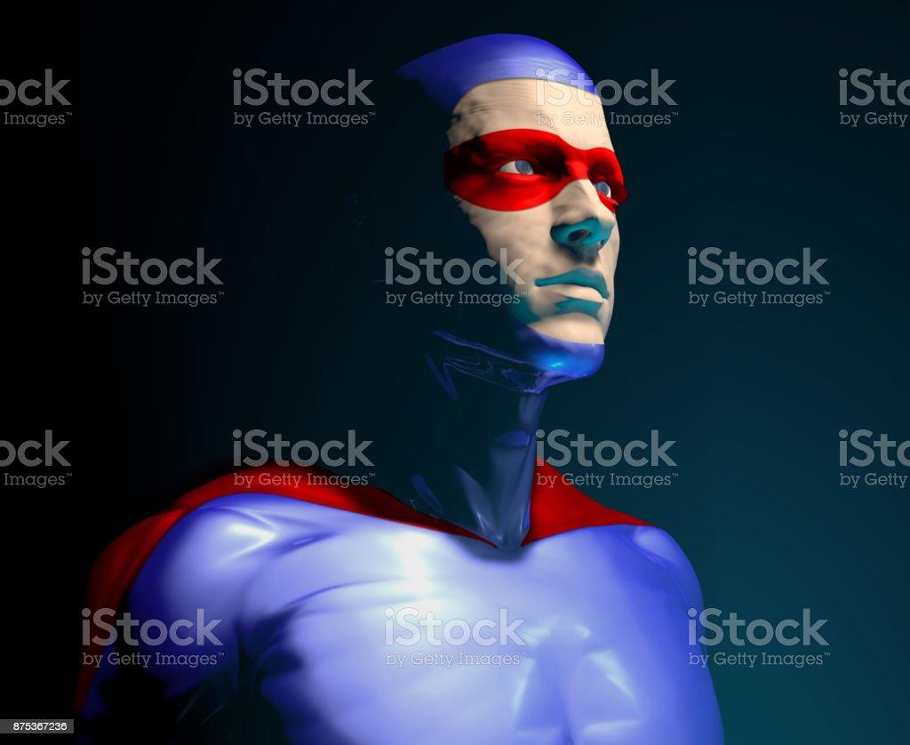Super Hero Character stock photo