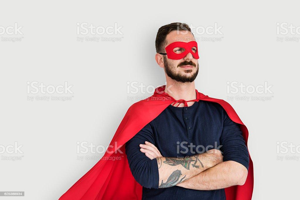 Super Hero Costume Fun Concept stock photo