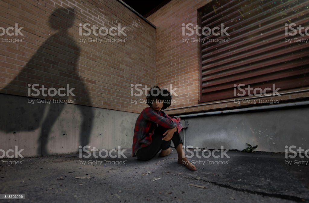 Super hero shadow stock photo