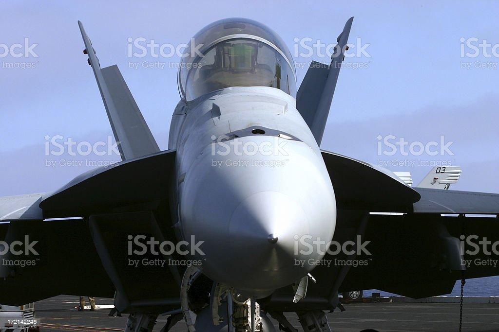 Fa 18 Hornet Super Aviones Vista Frontal En La Terraza Foto