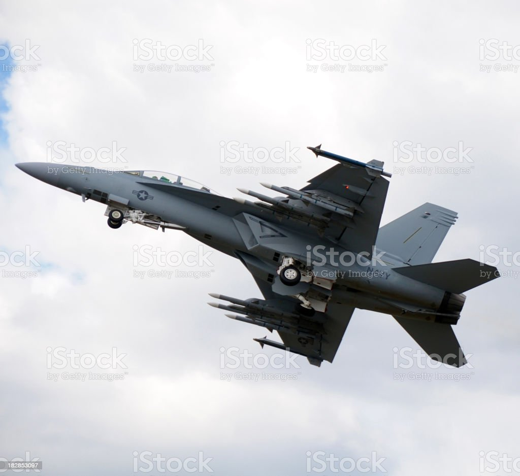 F-18 Super Hornet royalty-free stock photo