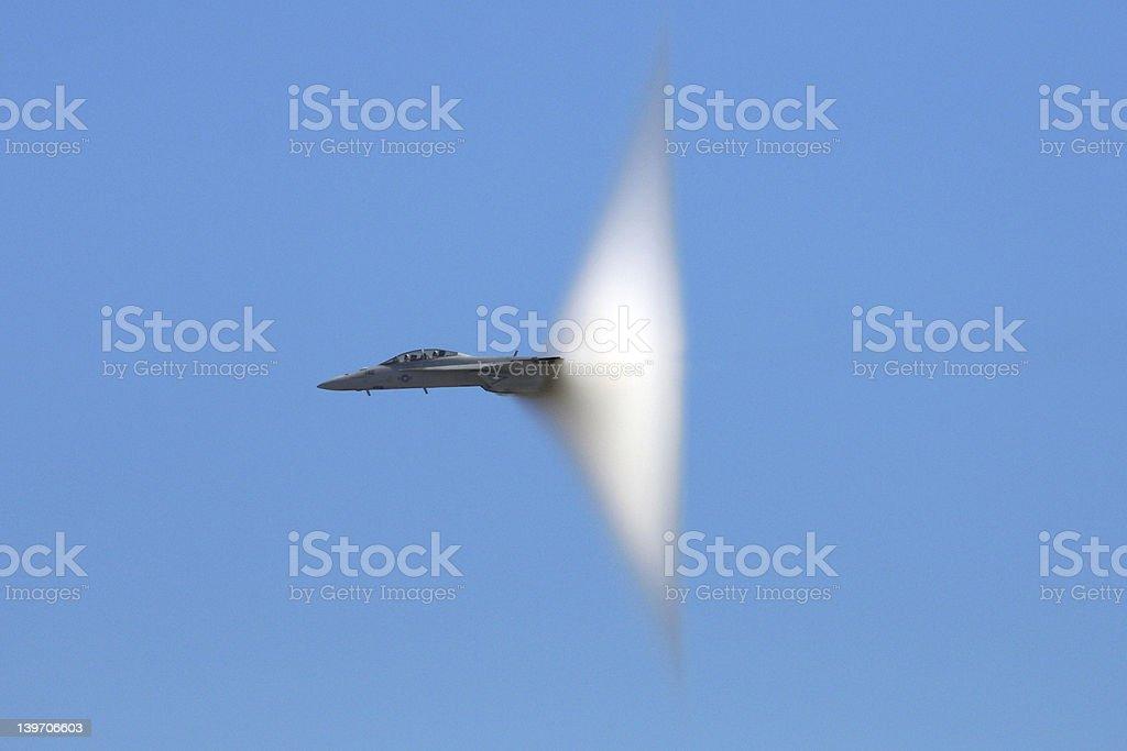 F-18 Super Hornet Shockwave royalty-free stock photo