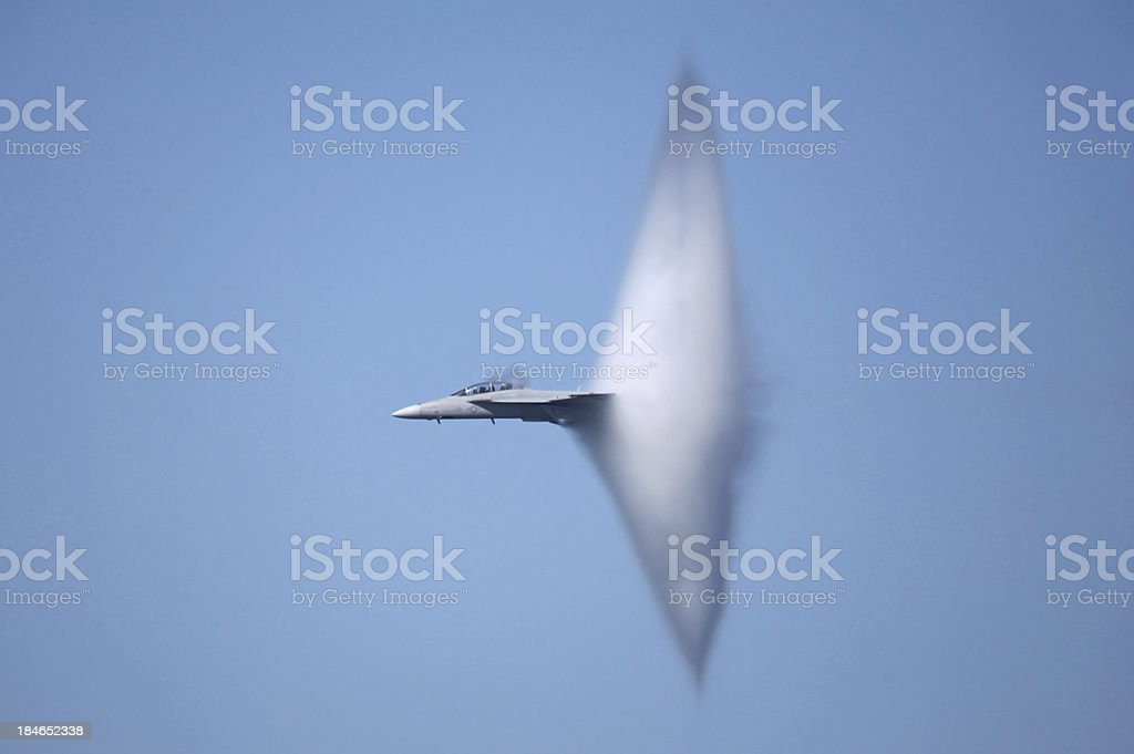 F-18 Super Hornet Sonic Boom stock photo