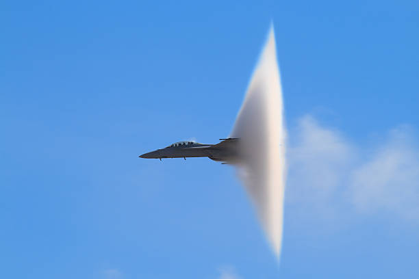 F-18 Super Hornet Vapor Cone stock photo