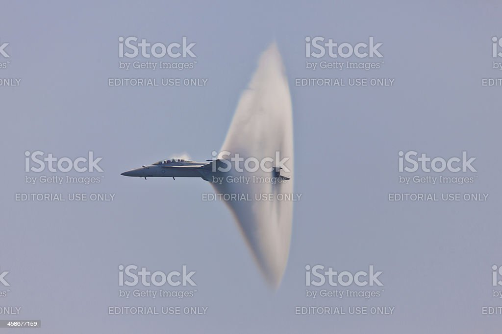 F/A-18 Super Hornet Vapor Cone royalty-free stock photo