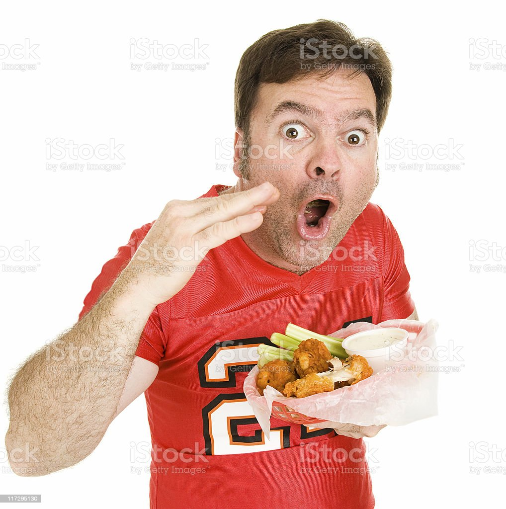 Super Hot Wings stock photo