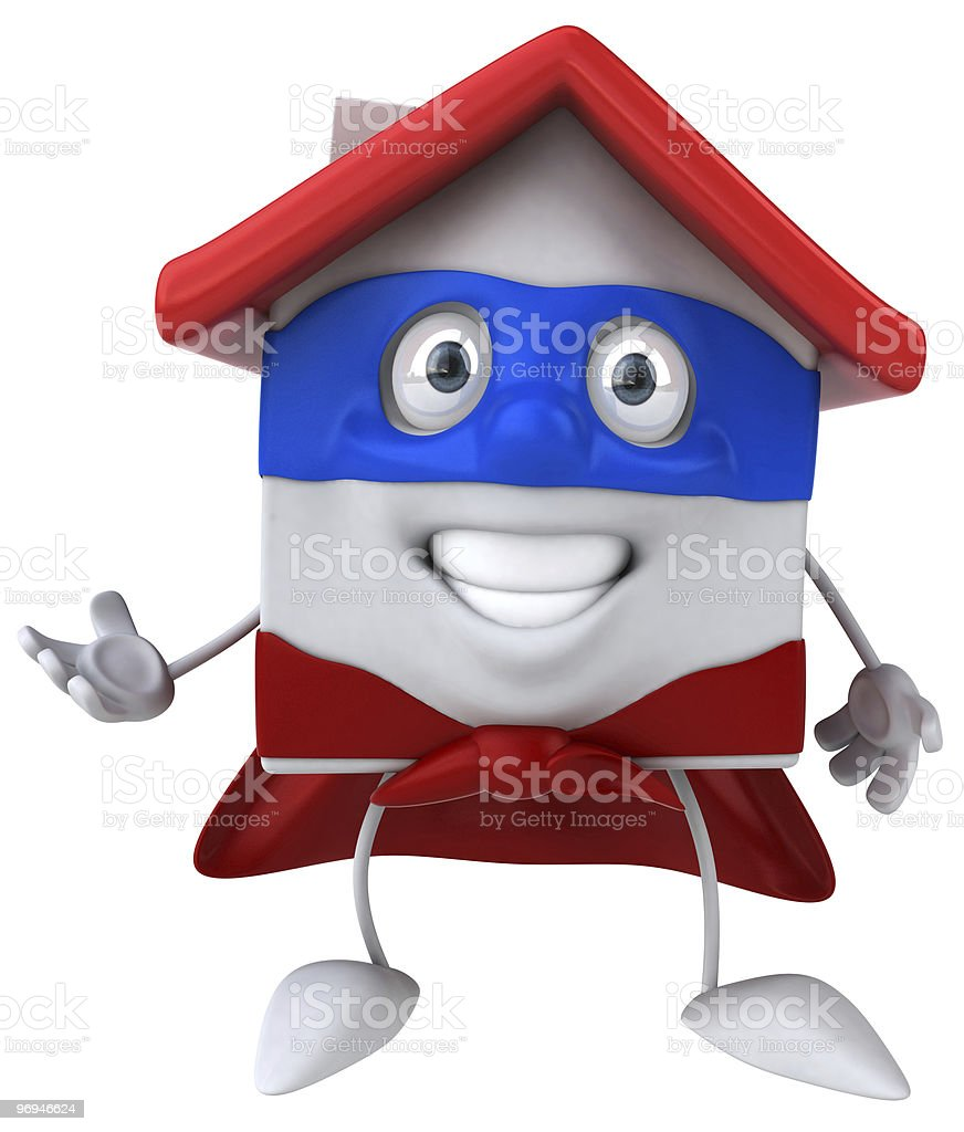 Super house royalty-free stock photo