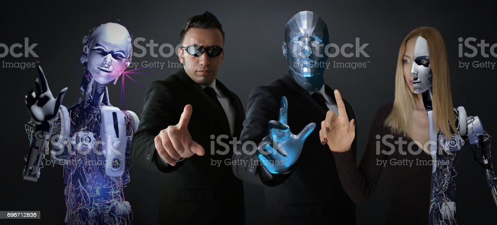 Super Interactive Heroes stock photo