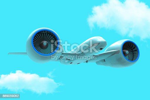 istock Super Jumbo Jet Design 889059052