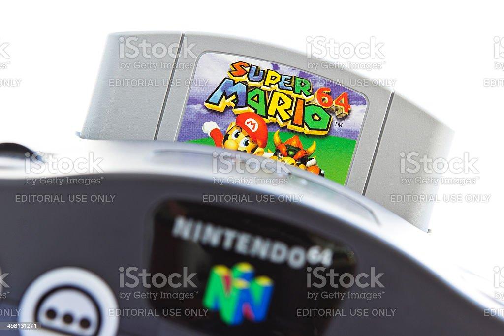 Super Mario 64 for Nintendo 64 stock photo