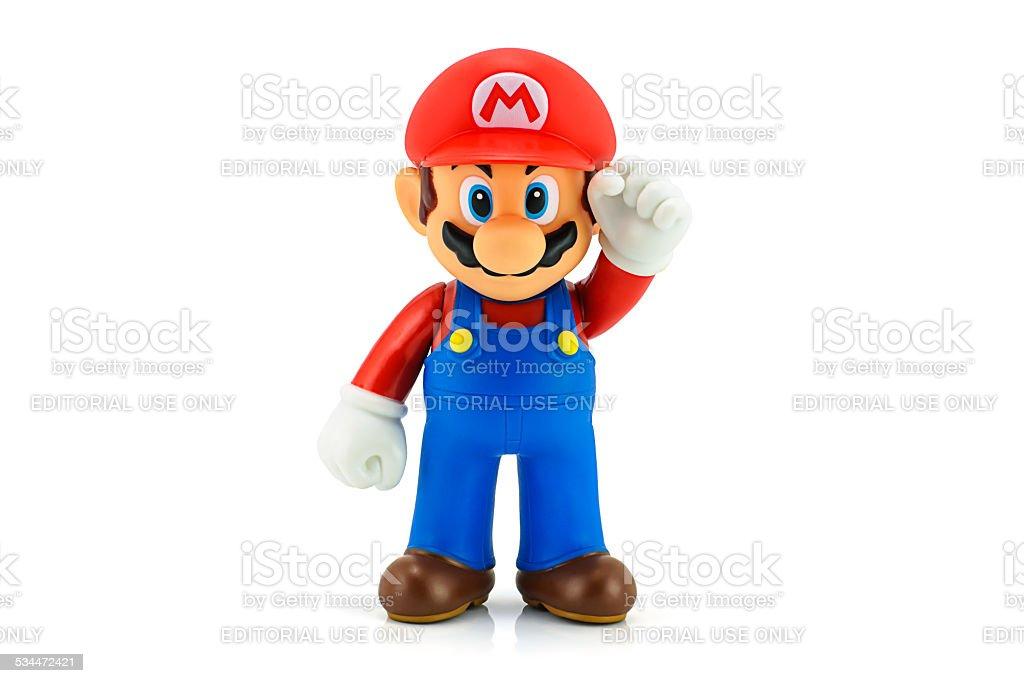 Super Mario Bros figure stock photo