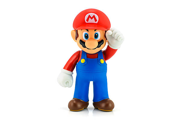 Super Mario Bros figure Bangkok, Thailand - August 11, 2014 : Super Mario Bros figure character from Super Mario video game console developed by Nintendo EAD. nintendo stock pictures, royalty-free photos & images