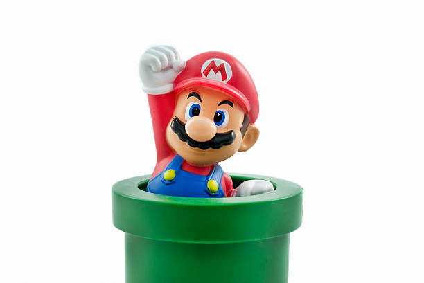 Super Mario Istanbul,Turkey - January 12,2015: Isolated studio shot of Mario from Nintendo's Super Mario Bros. franchise of video games. nintendo stock pictures, royalty-free photos & images