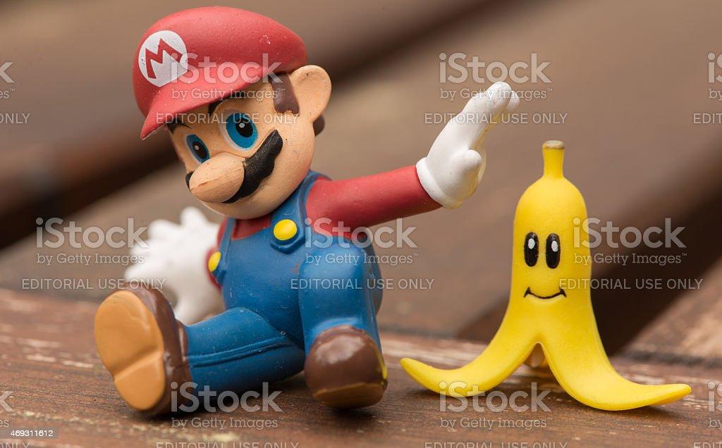 Super Mario Slipping stock photo