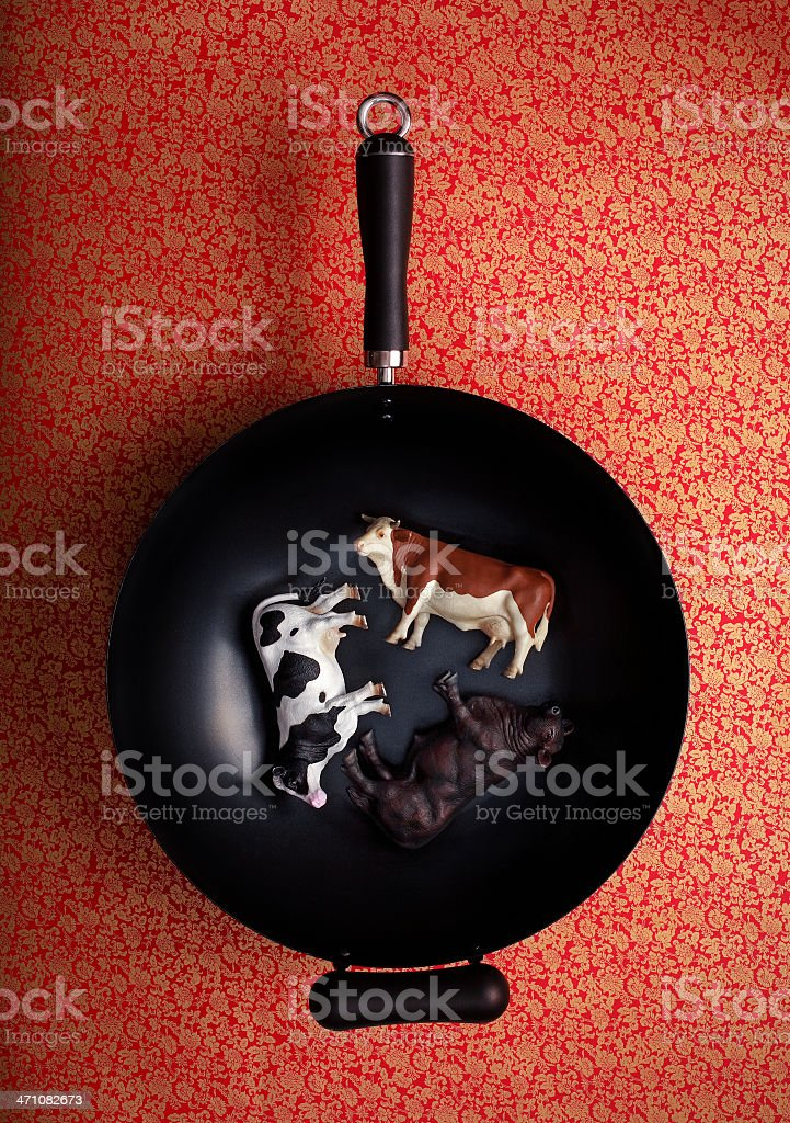super meaty wok royalty-free stock photo
