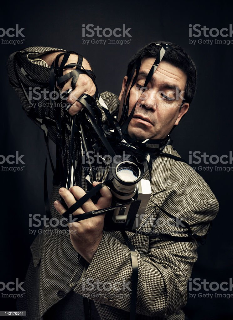 Super mess videographer royalty-free stock photo