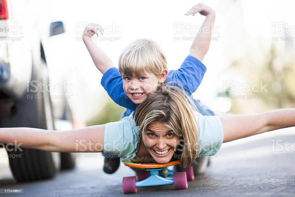 super mom stock photo