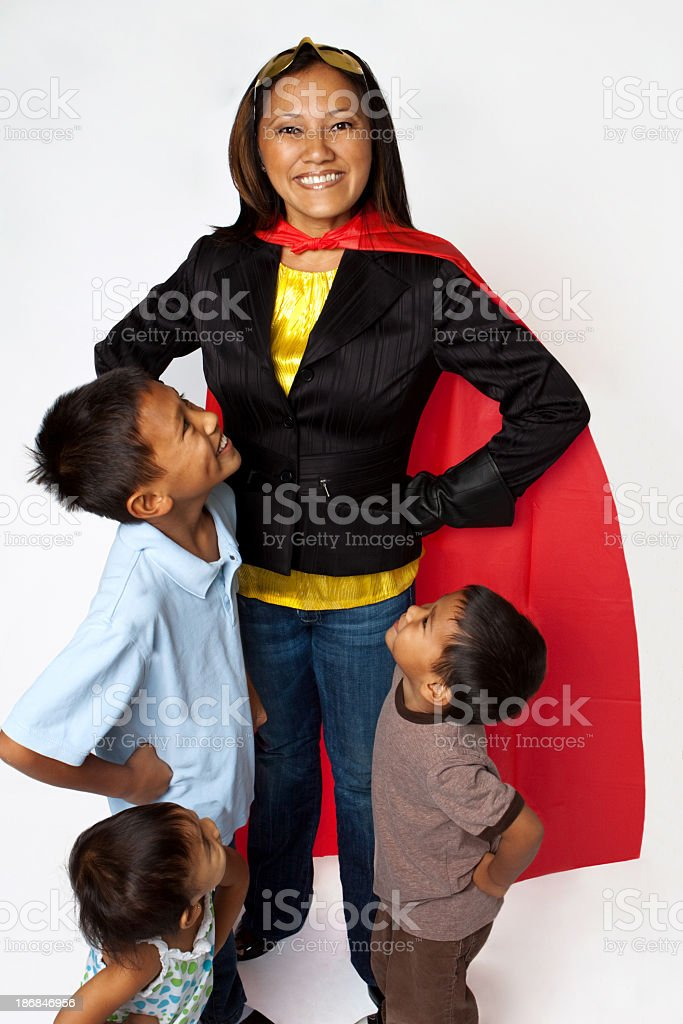 Super Mom royalty-free stock photo