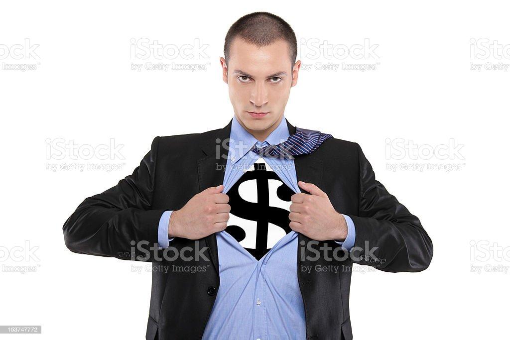 Super money man royalty-free stock photo