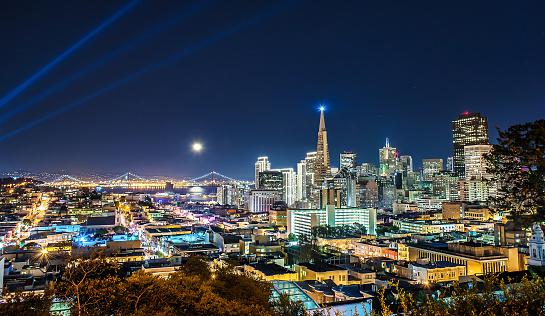 Super Moon over San Francisco