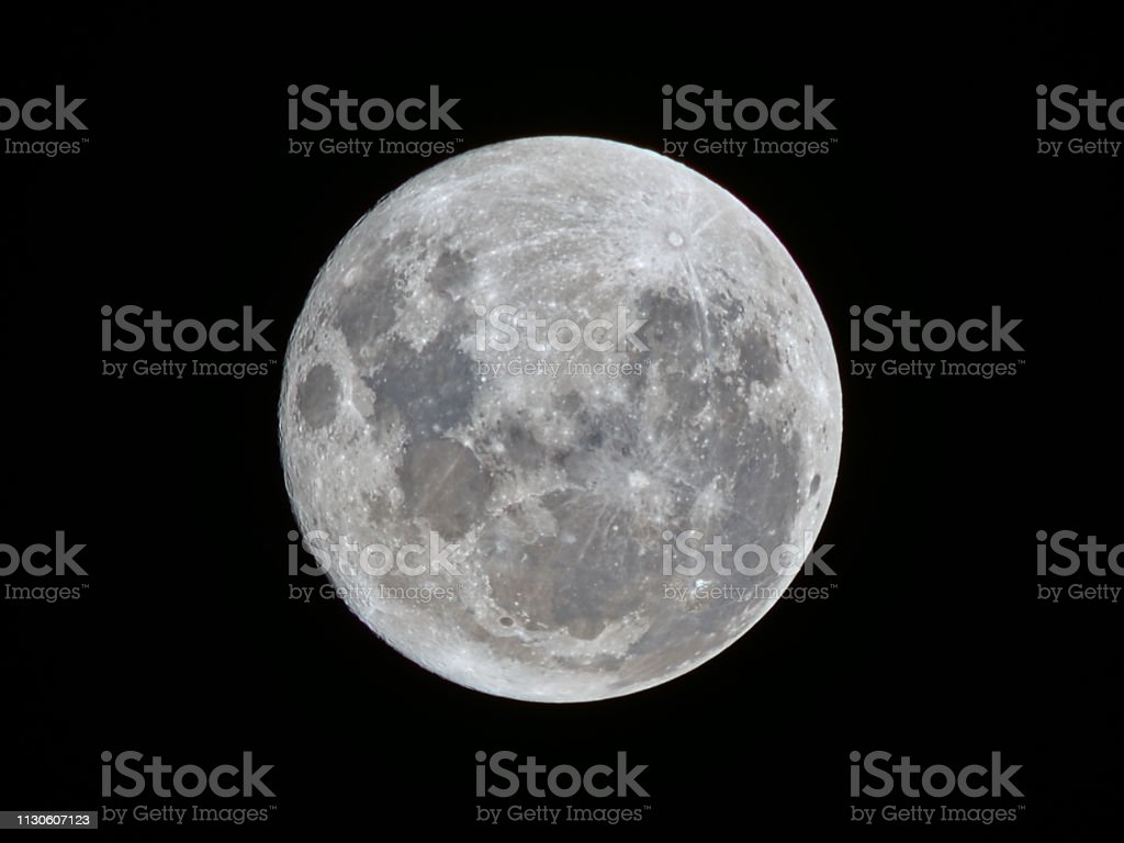 The super moon of Feb 18th, 2019 as seen From Cordoba, Argentina.