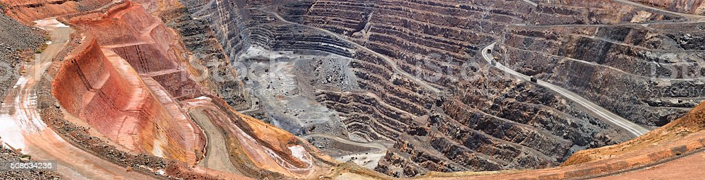 WA Super Pit Close Vertical pan stock photo