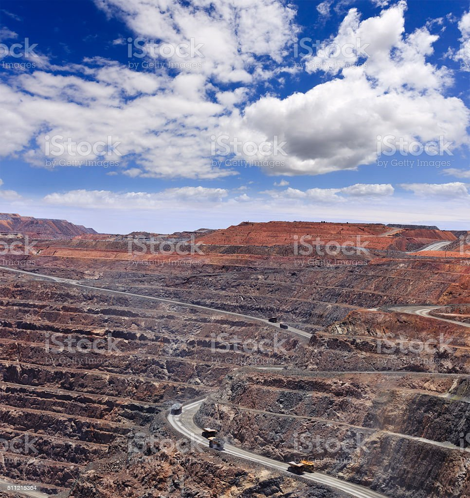 WA Super Pit Hor close stock photo