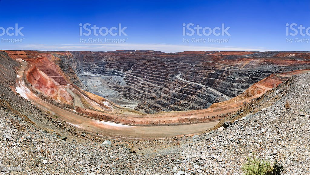 WA SUper Pit Panorama stock photo