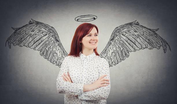 super-power-idee - engel zeichnen stock-fotos und bilder