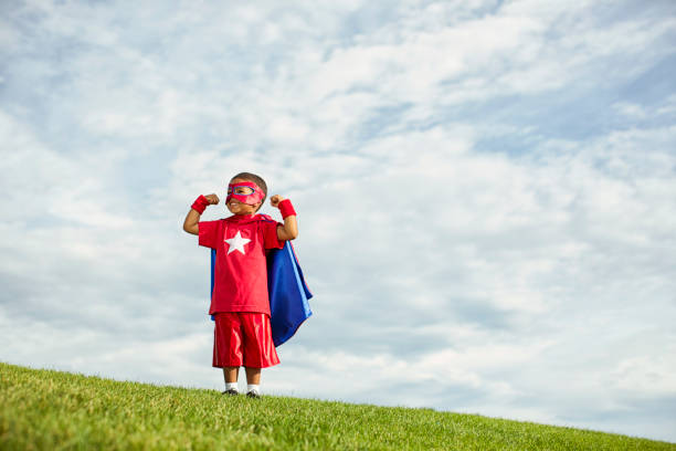super power - super hero stock pictures, royalty-free photos & images