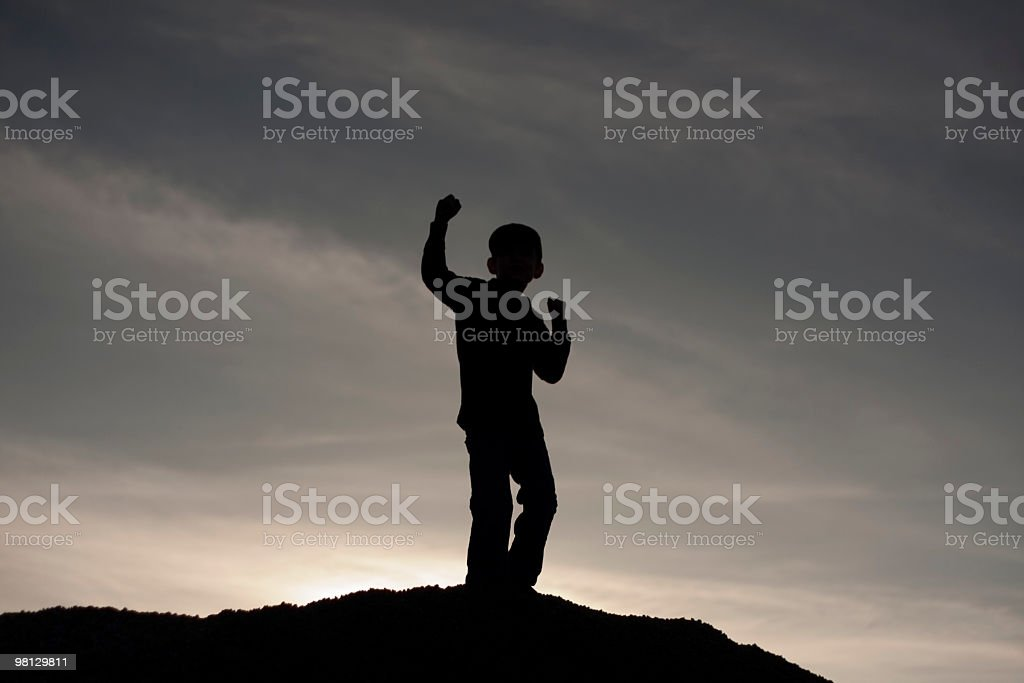 Super Silhouette royalty-free stock photo