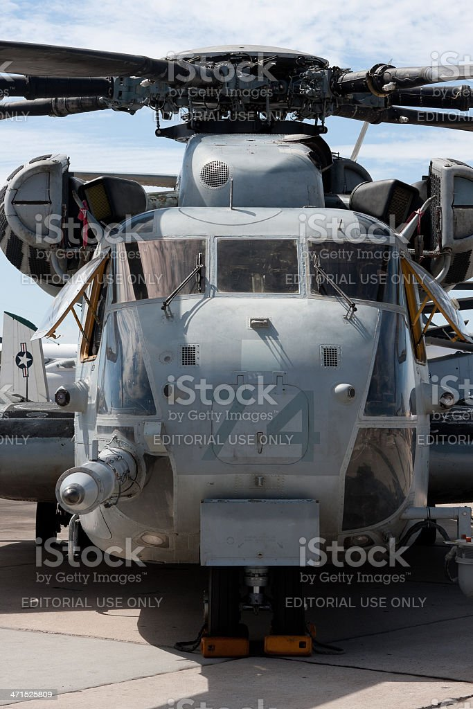 Super Stallion Helicopter Front View stock photo