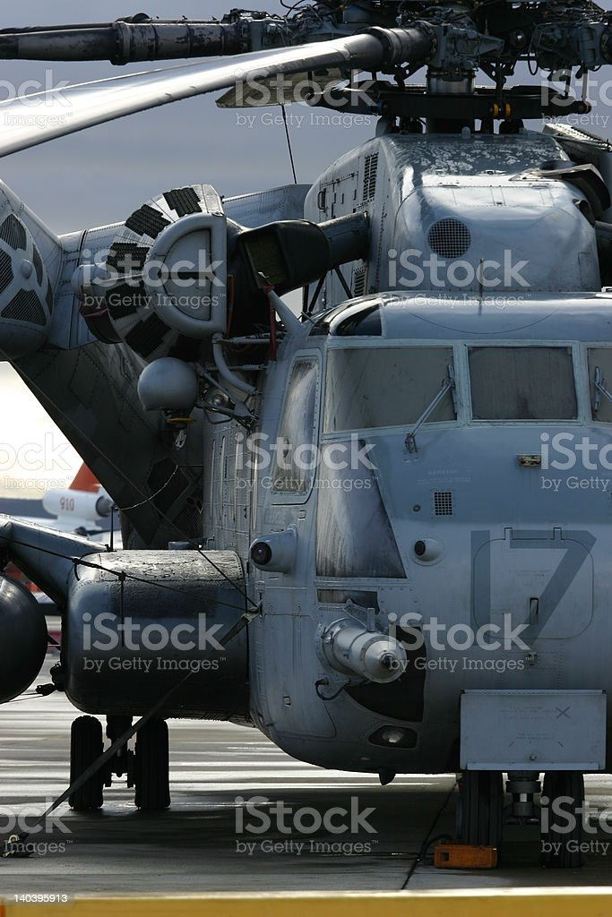 Super Stallion sits on a tarmac before an airshow.