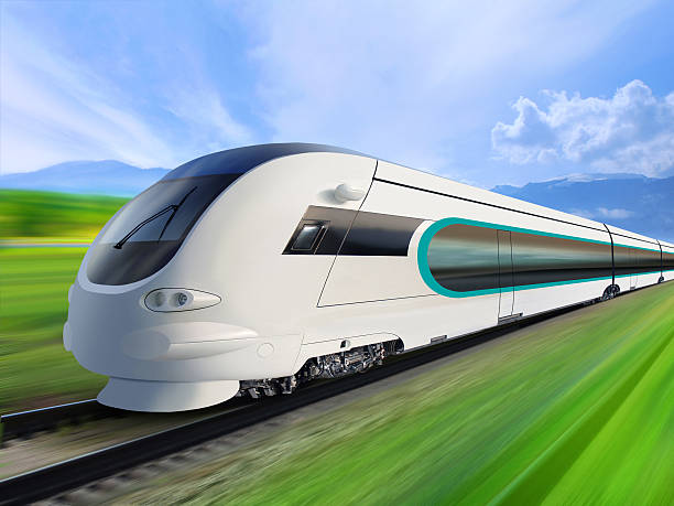 super streamlined train  bullet train stock pictures, royalty-free photos & images
