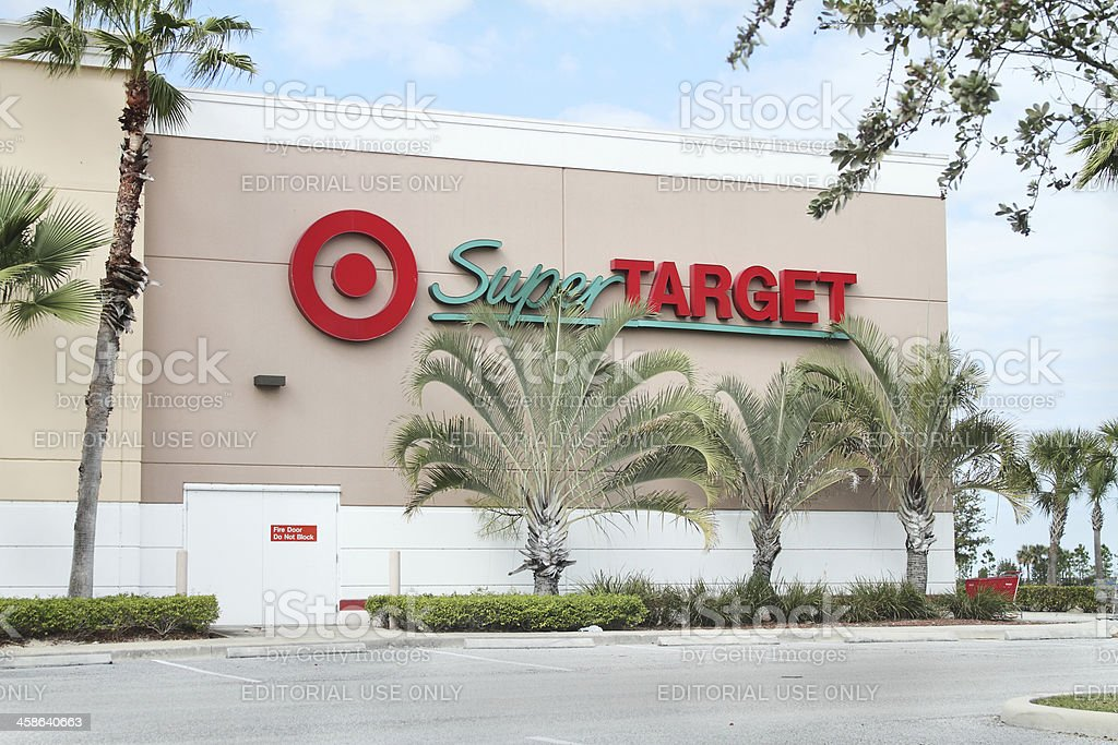 Super Target retail store with sign and logo. stock photo