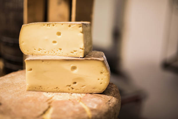 Super tasty French cheese. stock photo