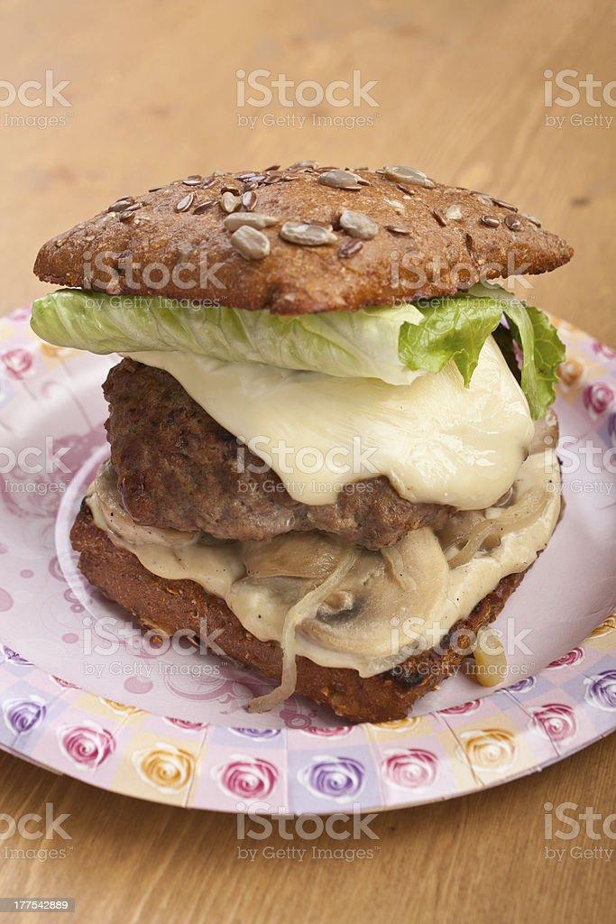 super tasty fresh cheeseburger royalty-free stock photo