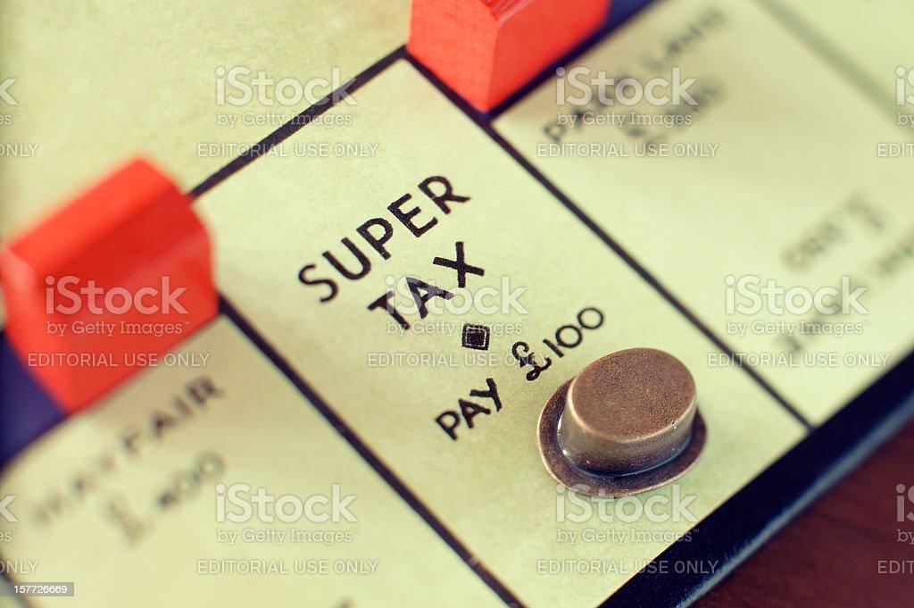 Super tax royalty-free stock photo