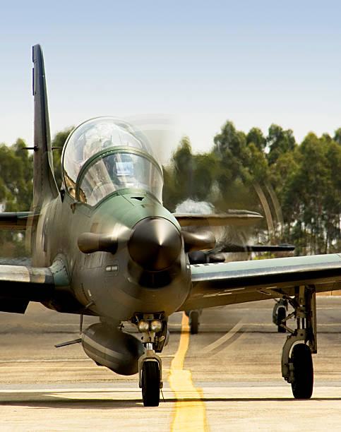 AT-29 Super Tucano Attack Aircraft stock photo