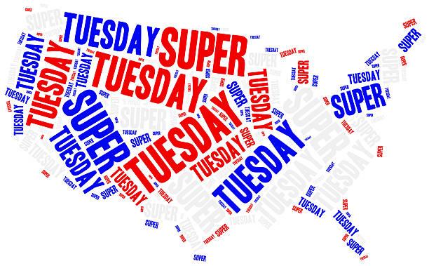 super tuesday. concept related to american president election. - кандидат на пост президента стоковые фото и изображения
