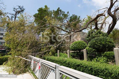 istock Super Typhoon Mangkhut Arrives Hong Kong 1041868434