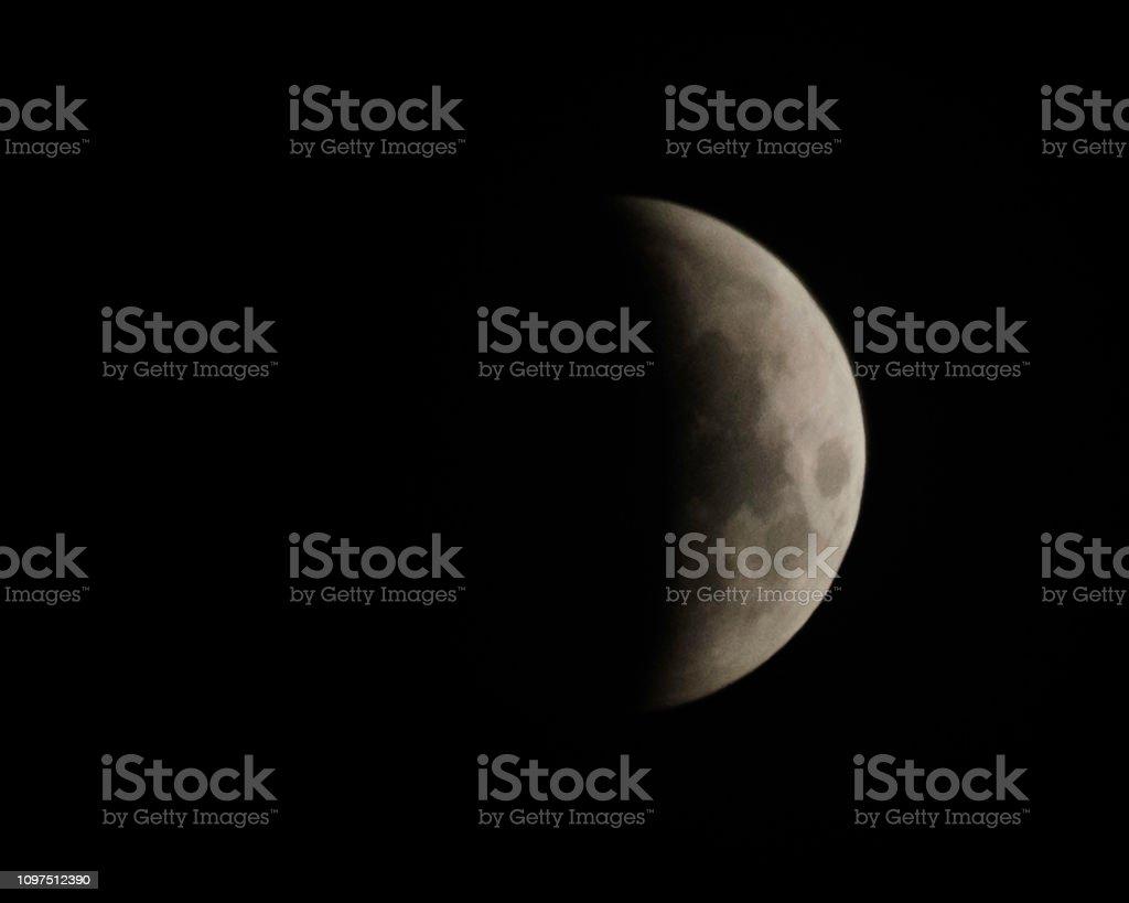 Super wolf blood moon stock photo