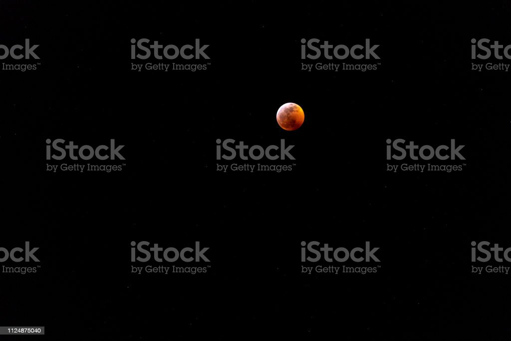 Super Wolf Blood Moon Viewed From Colorado