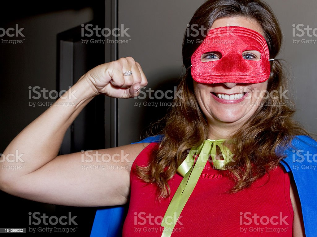 Super Woman Employee to the Rescue royalty-free stock photo