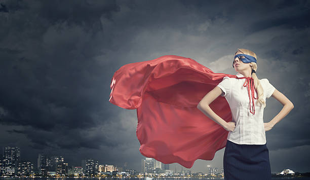 super woman - super hero stock pictures, royalty-free photos & images