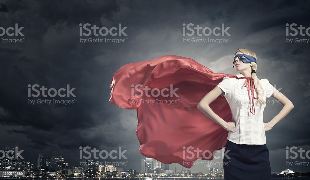 Super woman stock photo