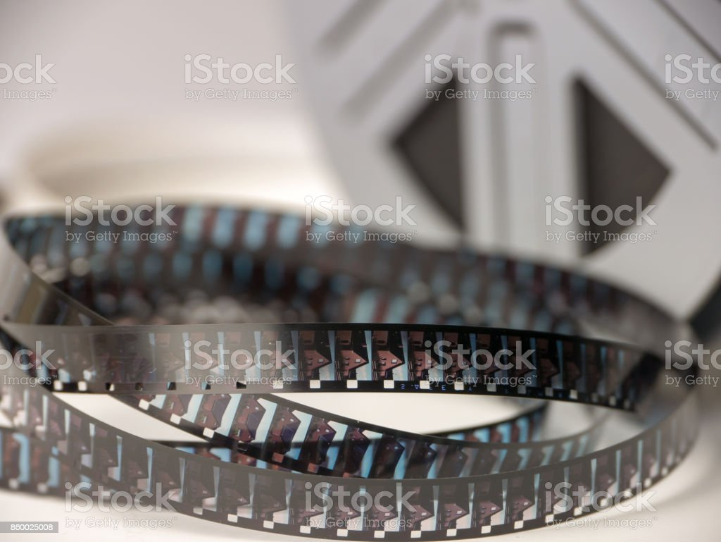 Super8 Film Strip stock photo