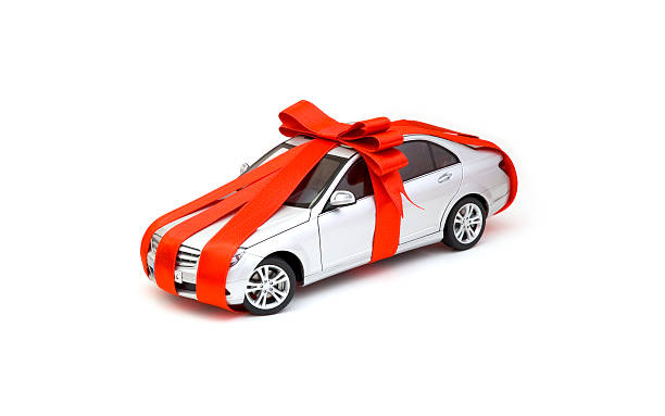 einzigartige geschenk - autoschleifen stock-fotos und bilder