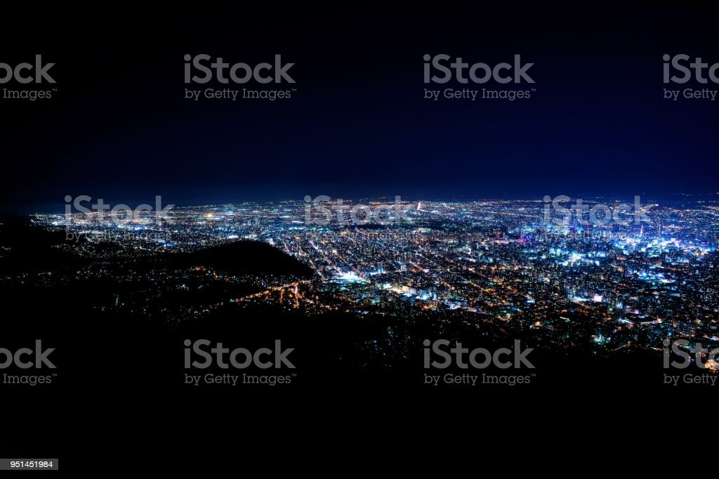 Superb View Of The New Japan Three Major Night View Stock Photo
