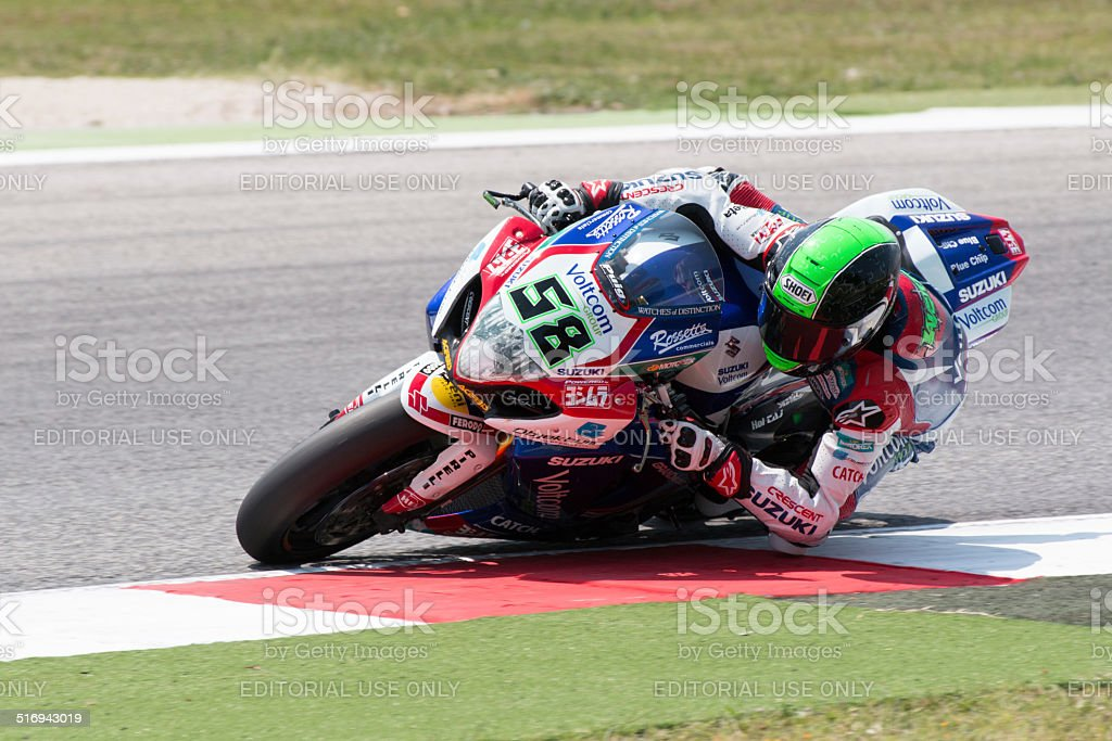 FIM Superbike World Championship - Free Practice 4th Session stock photo